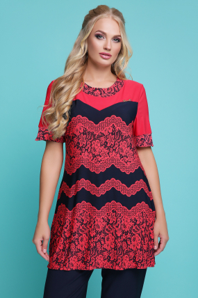 Блуза Тюльпан (кораловий) 1130