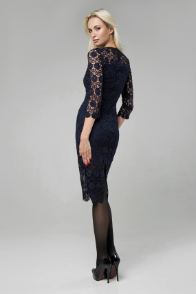 Платье Моника синий 1418