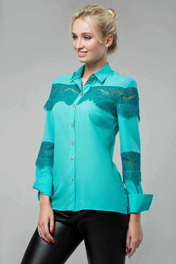 Блузка Маргарита бірюзовий