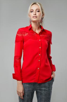 Блузка Маргарита червоний