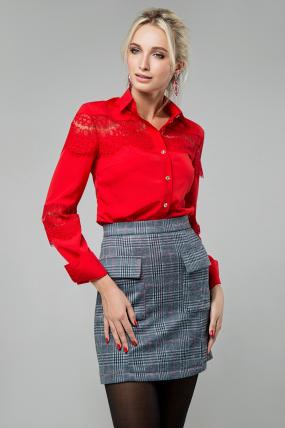 Блузка Маргарита червоний 1424