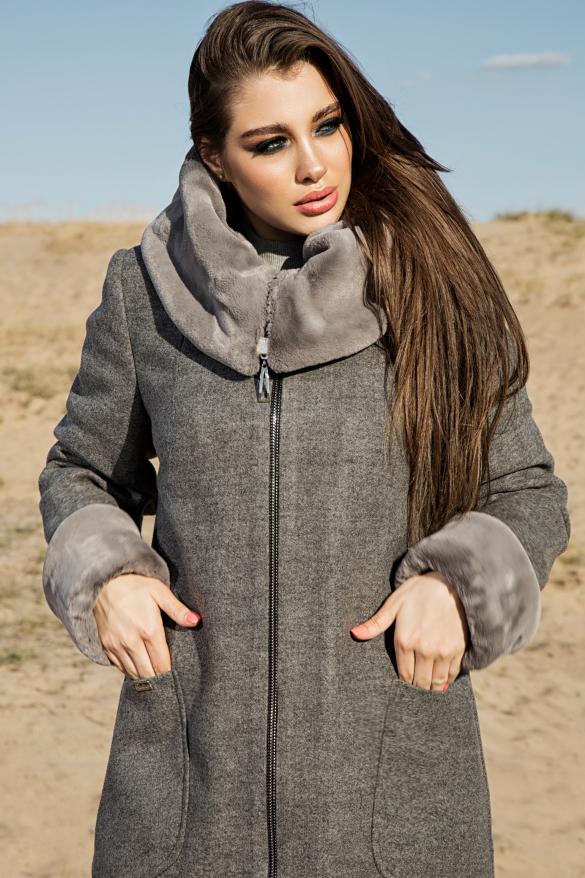 Пальто Кетті сталевий