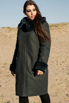 Пальто Кетті темно-зелений