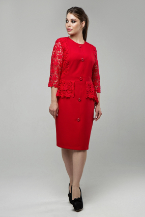 Женское платье Дарья красный 1579