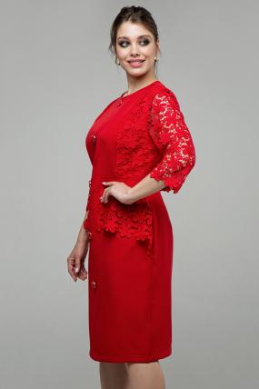 Женское платье Дарья красный 1580
