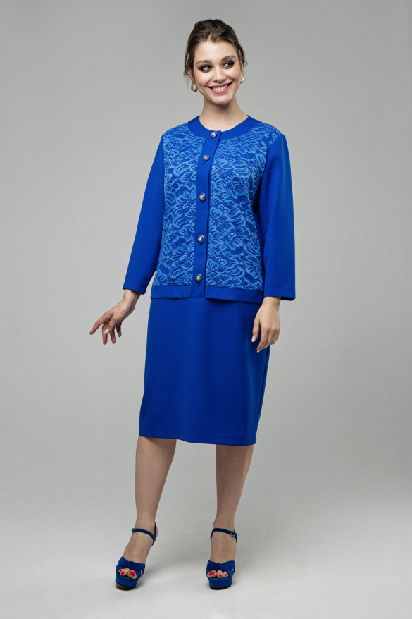 Платье Фиерия электрик