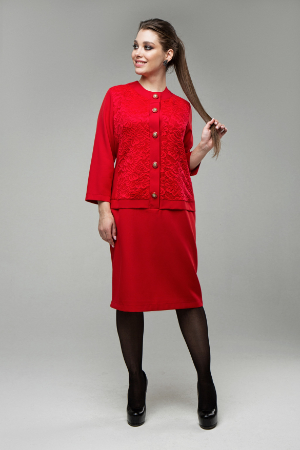 Платье Фиерия красный