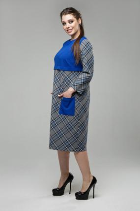 Платье Ягодка синий 1598