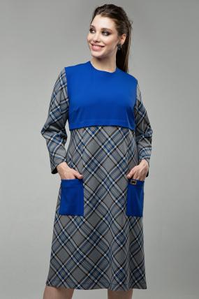 Платье Ягодка синий 1599