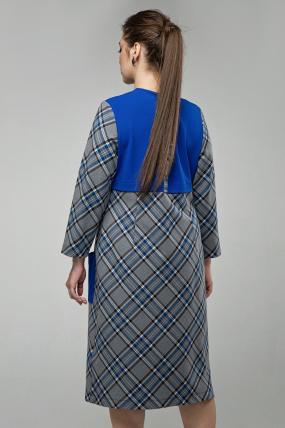 Платье Ягодка синий 1600