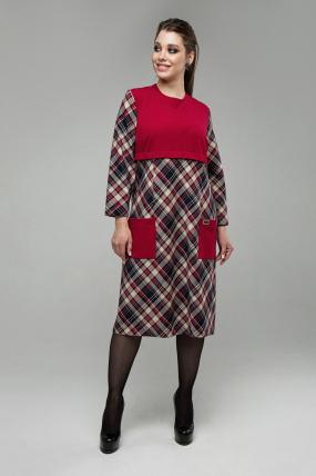 Платье Ягодка красный 1601