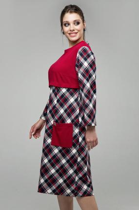 Платье Ягодка красный 1602