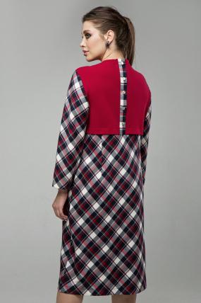 Платье Ягодка красный 1603