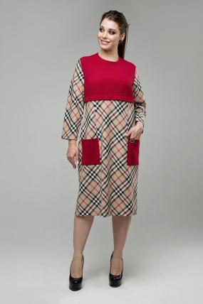 Платье Ягодка бежевый 1605