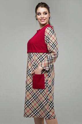 Платье Ягодка бежевый 1606