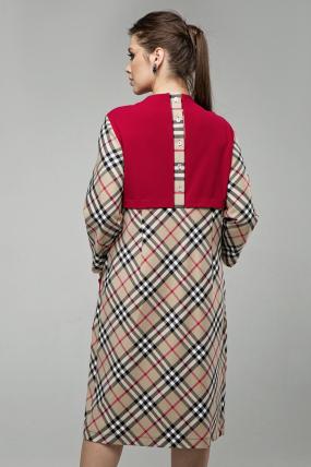 Платье Ягодка бежевый 1607