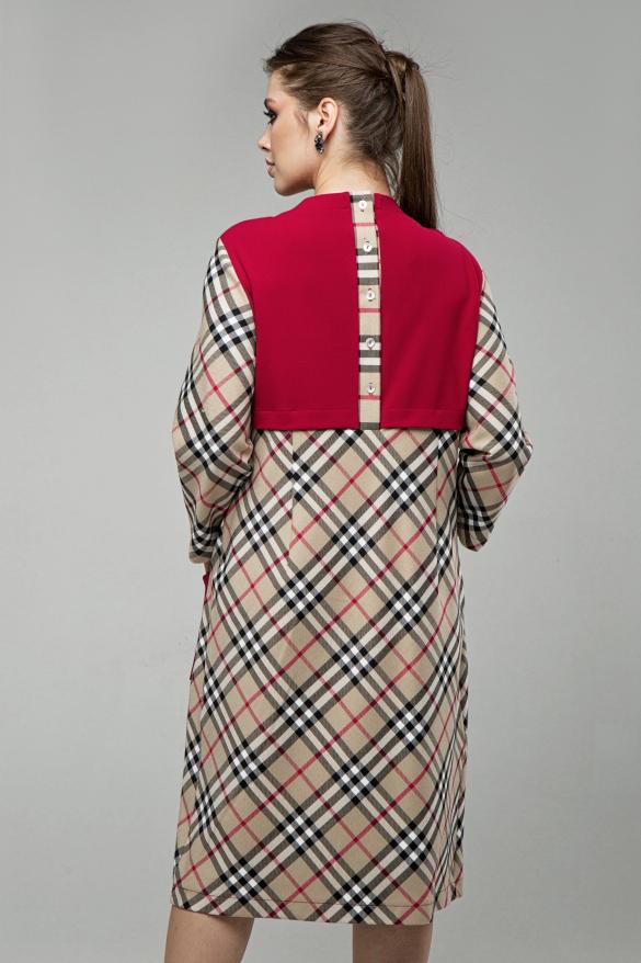 Платье Ягодка бежевый