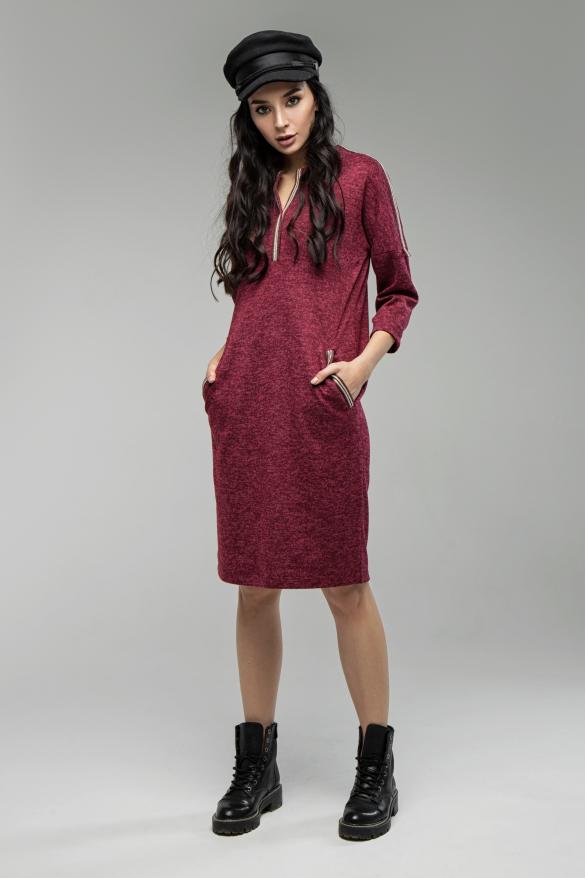Платье Лиза марсала