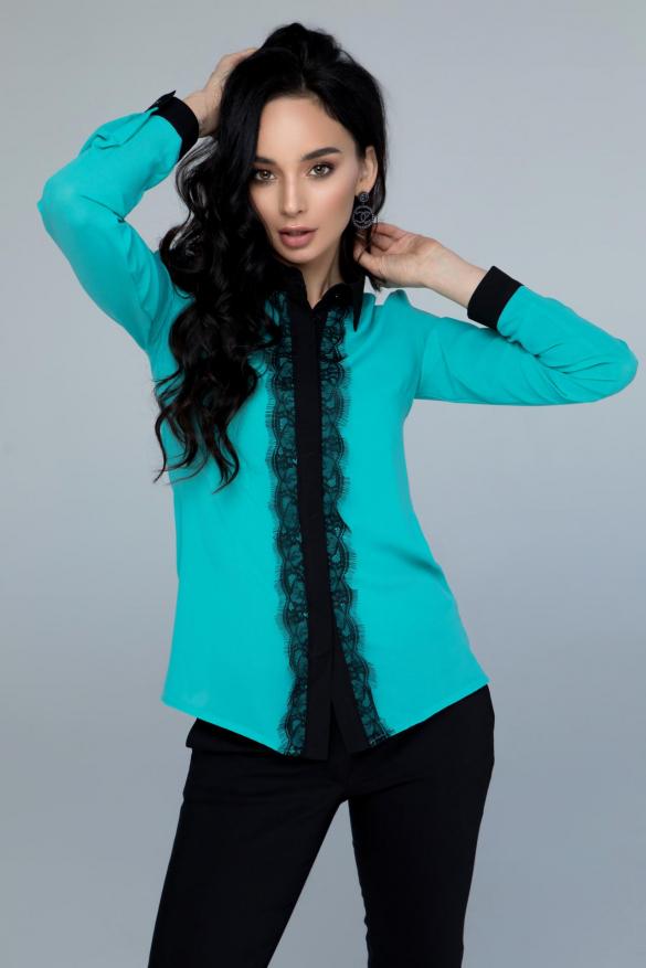 Блузка Классик бирюзовый