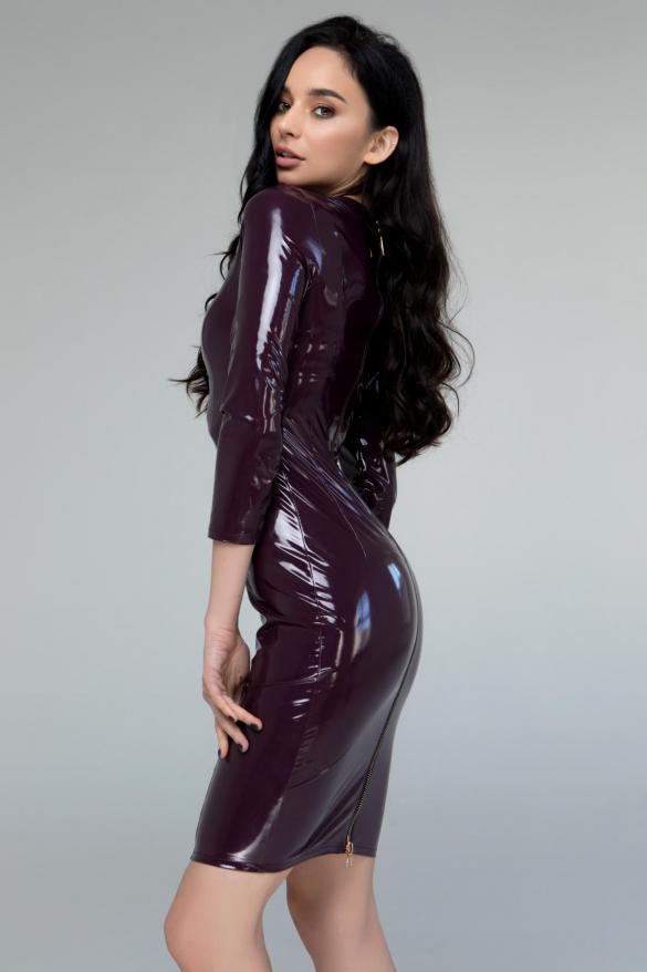 Платье Лаки бургунди