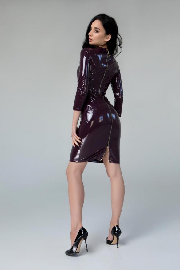 Сукня Лакі бургунді
