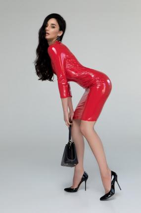 Платье Лаки красный