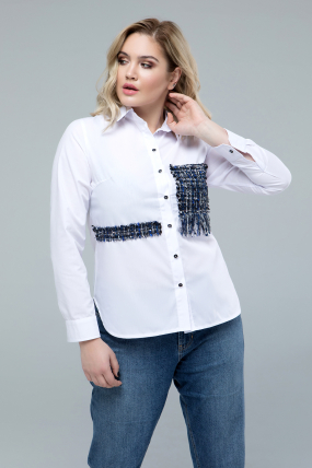 46d8ea1a03a Рубашка Диана белый