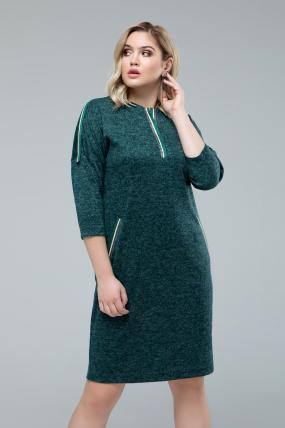 Платье Лиза изумрудный