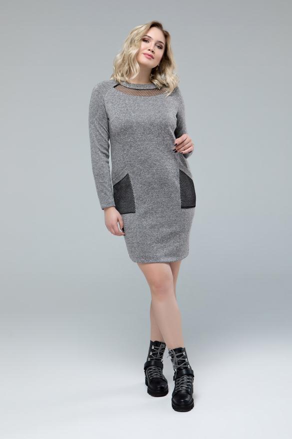 Платье Таиса серый