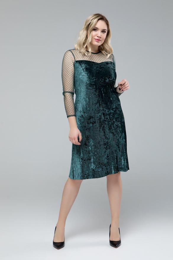 Платье Дина изумрудный