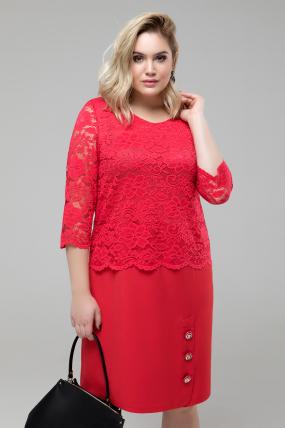 Платье Аксения красный