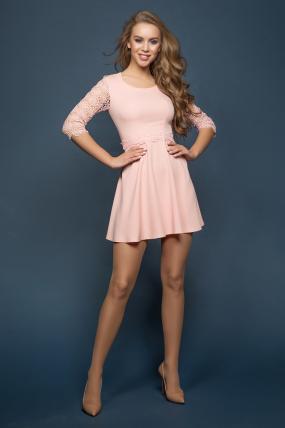 Платье Ромашка персик