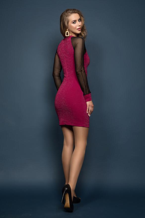 Платье Тина фуксия