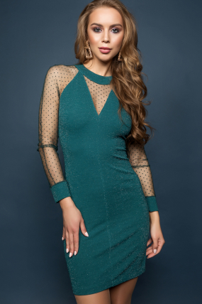 Платье Тина изумрудный