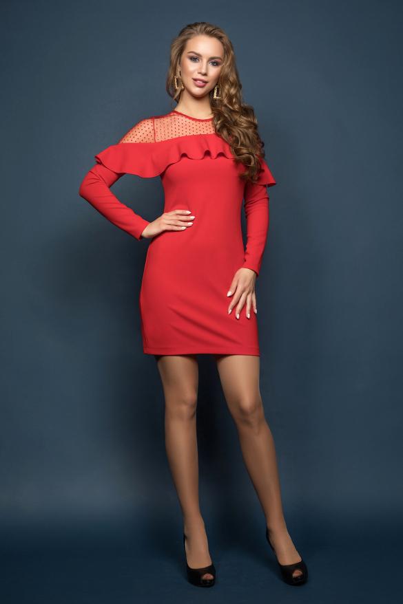 Платье Венера красный