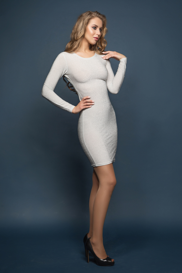 Платье Лолита сребристый