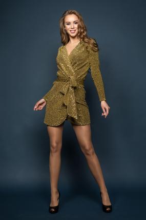 Платье Ева золотой