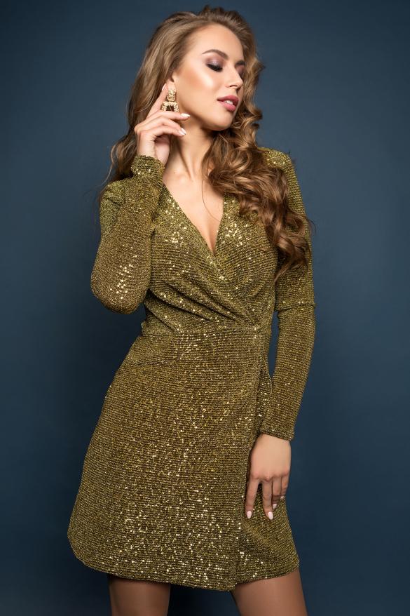 Платье Меган золотой