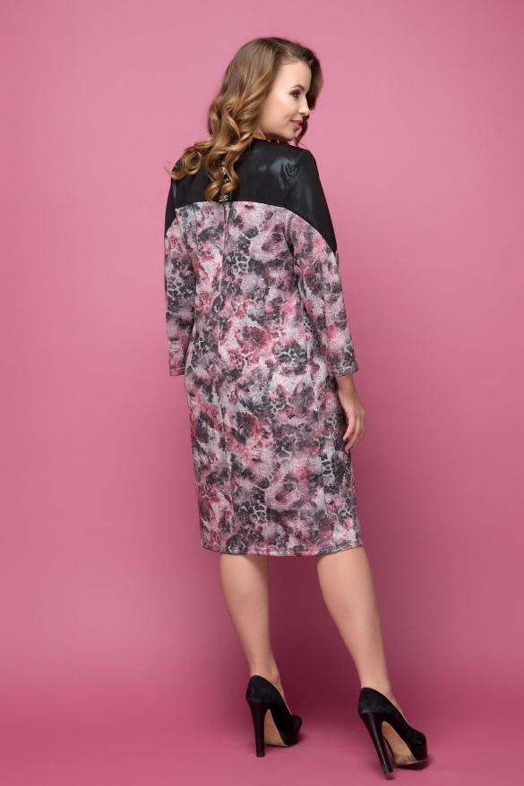 Платье Азиза цветной принт