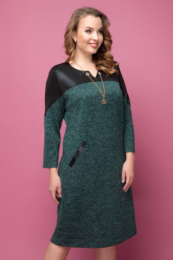 Платье Азиза изумруд