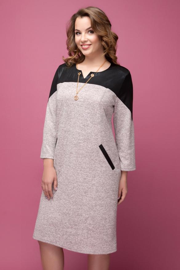 Платье Азиза пудра