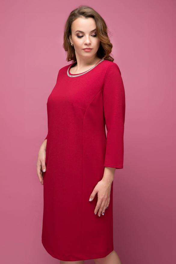 Сукня Гірлянда темно червоний
