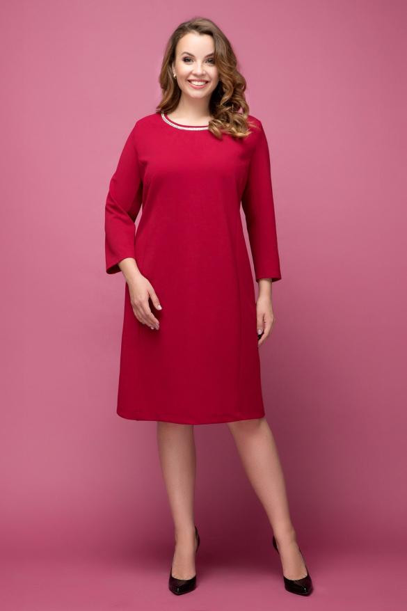 Платье Гирлянда темно-красный