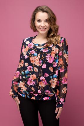 Блуза цветной принт Симфония 2012