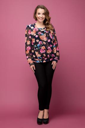 Блуза цветной принт Симфония 2013