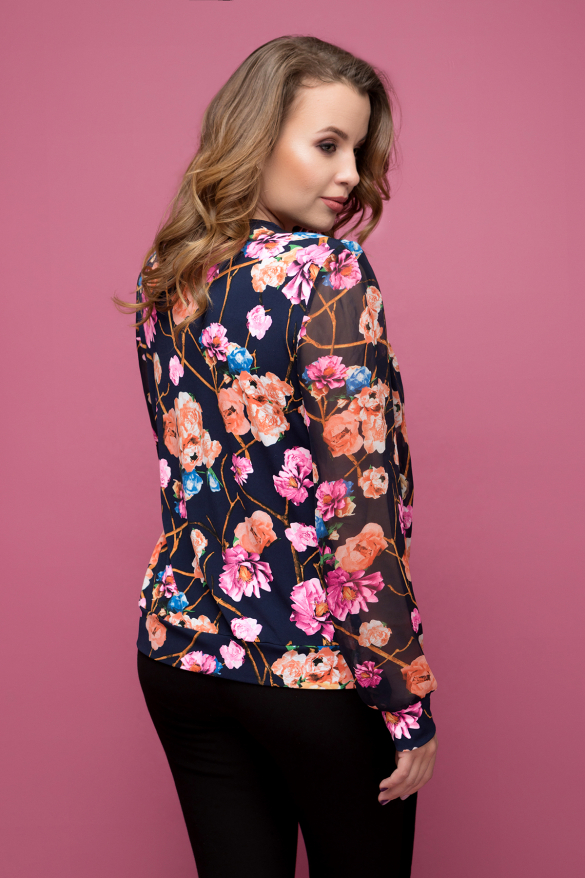 Блуза цветной принт Симфония