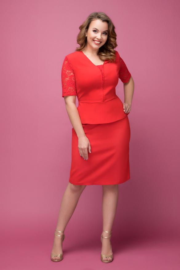 Платье красное Наргиз