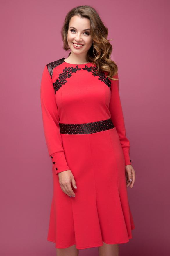 Платье красное Тома