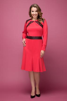Платье красное Тома 2023