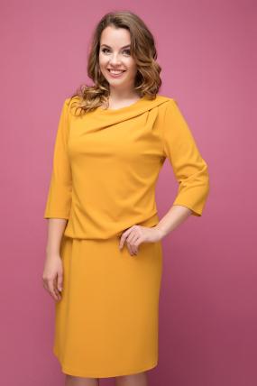 Платье желтое Бриллиант 2024